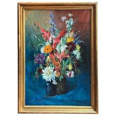 20th Century Italian Flowers Still Life Signed Umberto Montini