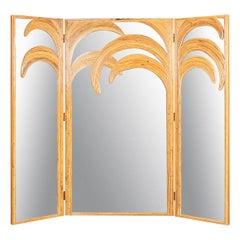 20th Century Italian Folding Mirror Screen 'Parma Series' Vivai Del Sud, c.1970