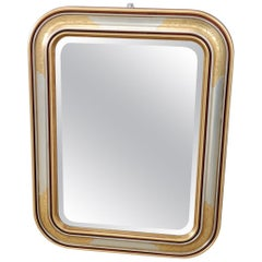 20th Century Italian Gilded and Silvered Wall Mirror