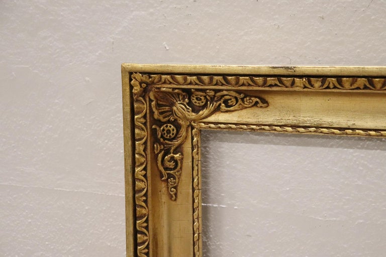 Gilt 20th Century Italian Gilded Wood Frame For Sale