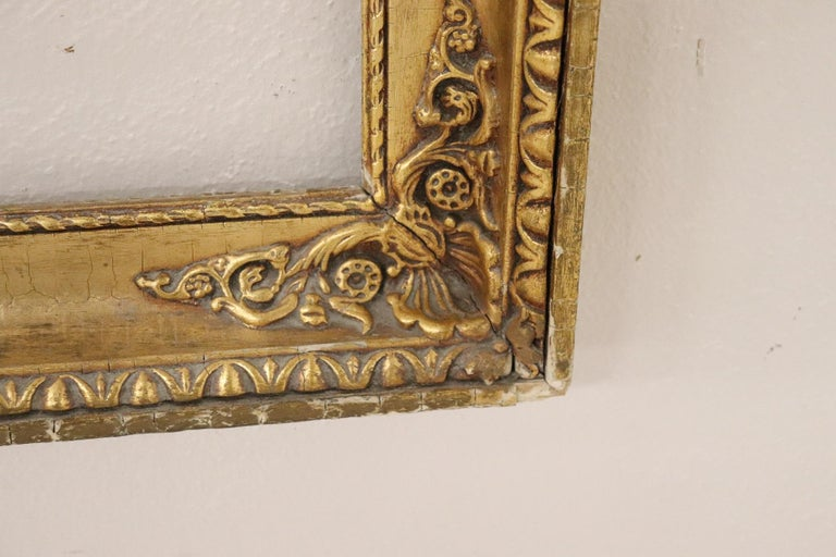 Mid-20th Century 20th Century Italian Gilded Wood Frame For Sale