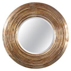 20th Century Italian Giltwood Circular Mirror