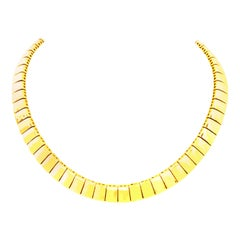 20th Century Italian Gold Plate Link Choker Style Necklace By, Napier
