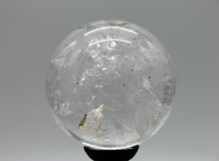 A very impressive sculpture of sphere, made in a huge rock crystal; the sphere is a classical decorative object and a must for collectors.