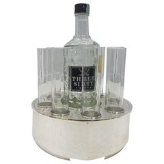 20th Century Italian Hammered Solid Silver Vodka Bucket