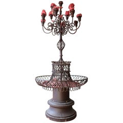 20th Century Italian Large Candelabrum in Forged Iron
