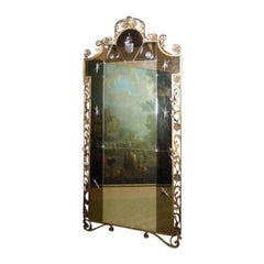20th Century Italian Large Gilded Iron Mirror