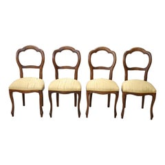 20th Century Italian Louis Philippe Style Beechwood Four Chairs
