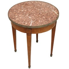 20th Century Italian Louis XVI Style Inlay Walnut Coffee Table or Side Table