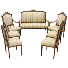 20th Century Italian Louis XVI Style Living Room Set or Salon Suite