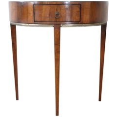 20th Century Italian Louis XVI Style Walnut with Golden Bronzes Console Table