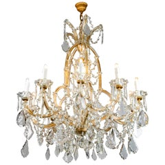 20th Century Italian Maria Therese Eleven-Light Crystal Chandelier