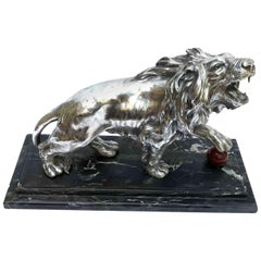 20th Century Italian Medici Lion Figure After Flaminio Vacca by Fabris M.