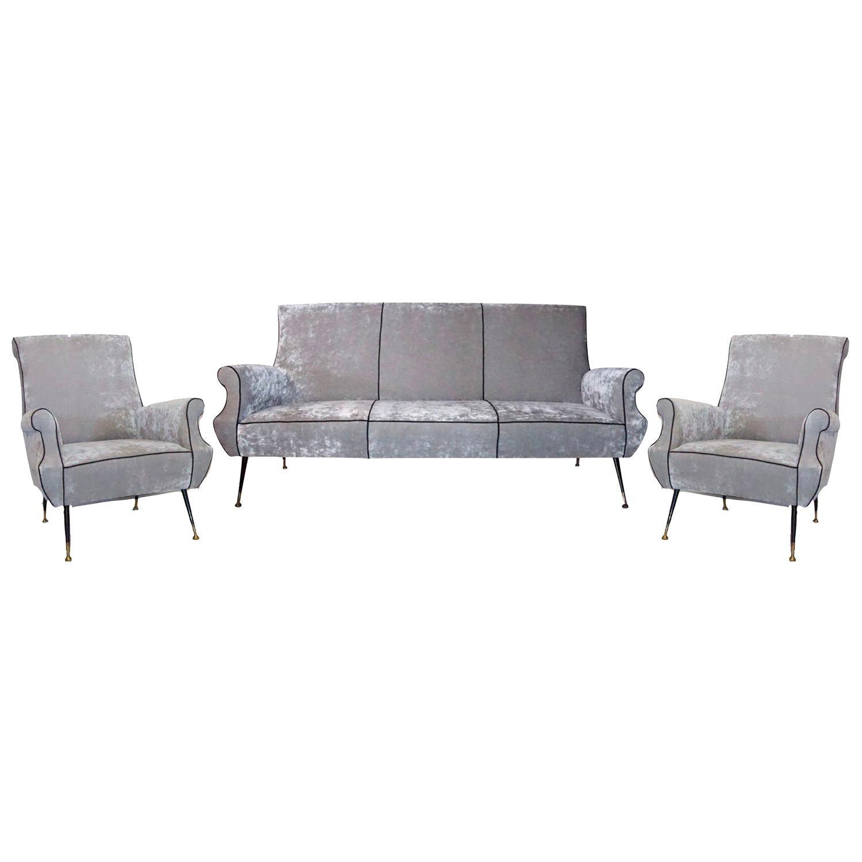 20th Century Italian Minotti Living Room Set by Gigi Radice