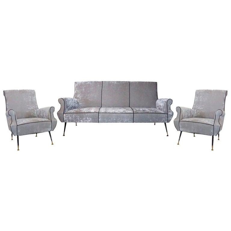 20th Century Italian Minotti Living Room Set by Gigi Radice For Sale