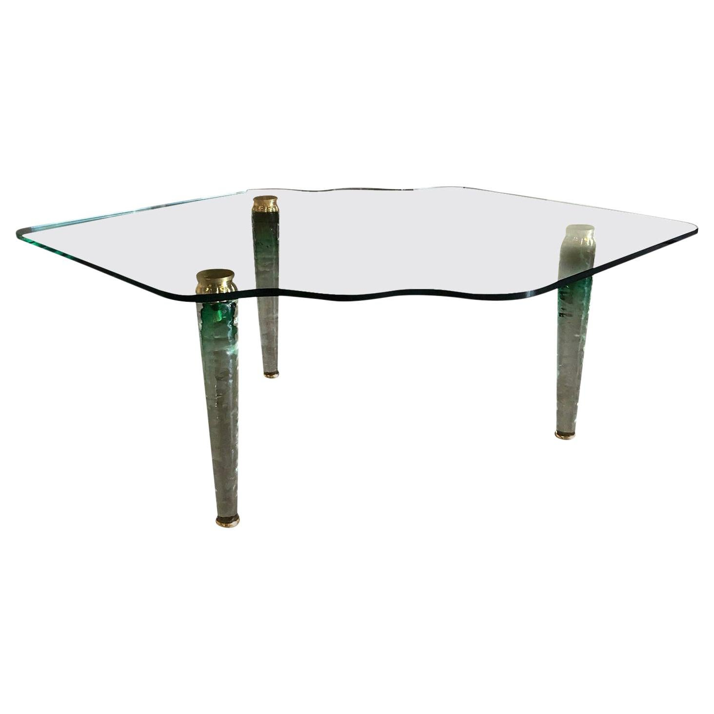 20th Century Italian Murano Glass Coffee Table in the Style of Danny Lane