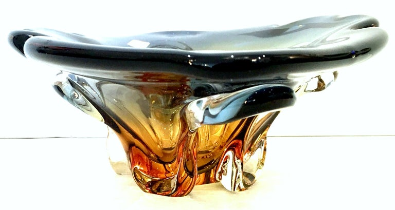20th Century Italian Murano Glass Organic Modern Bowl For Sale 2