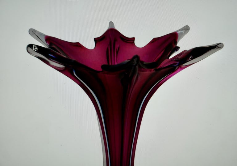 20th Century Italian Murano Glass Vase In Good Condition For Sale In Antwerp, BE