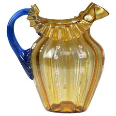 20th Century Italian Murano Liberty Style Pitcher