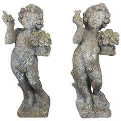 20th Century Italian Neoclassical Garden Statues Set, Garden Ornament