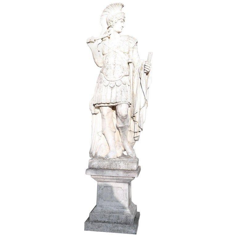 20th Century Italian Neoclassical Stone Garden Statue For Sale