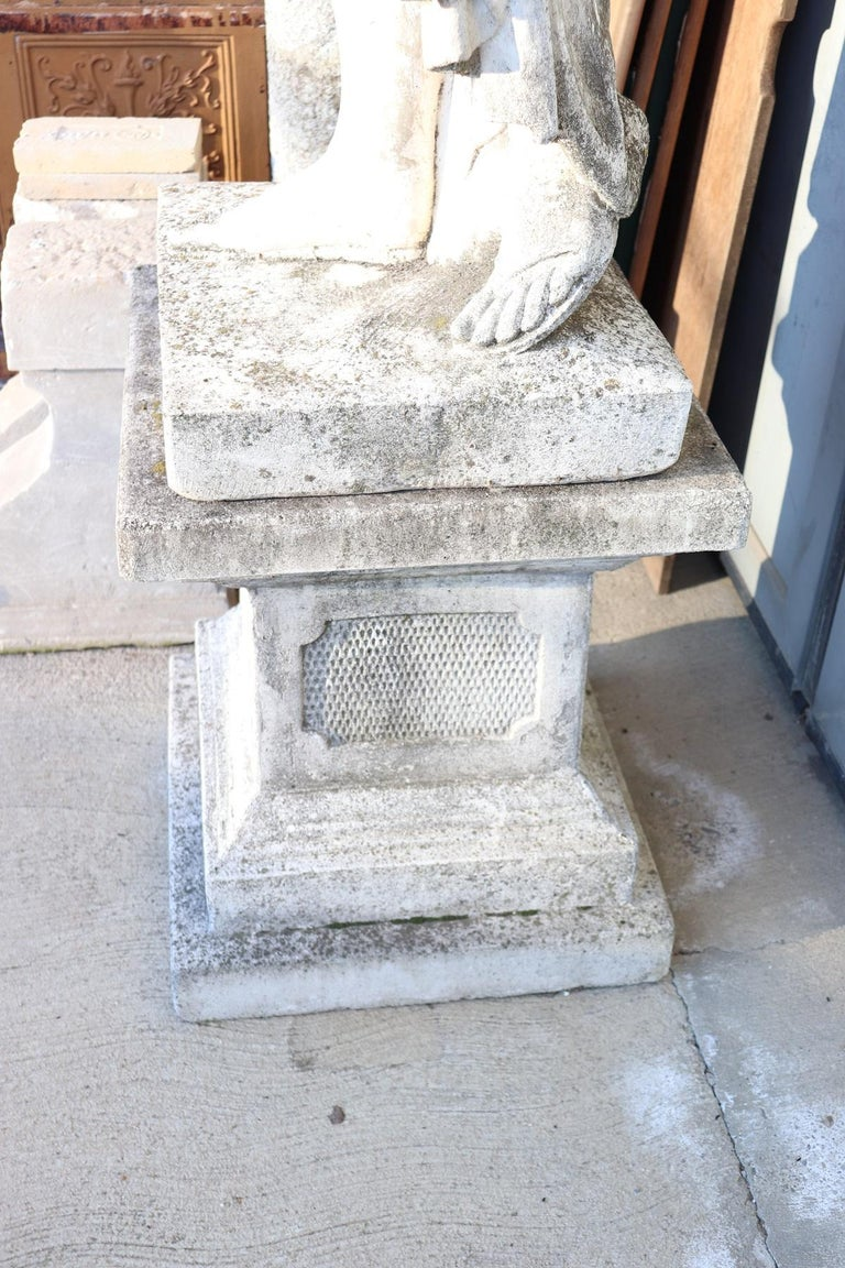20th Century Italian Neoclassical Stone Garden Statue For Sale 4