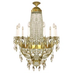 20th Century Italian Neoclassical Style Crystal Chandelier Roman Female Figures