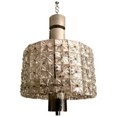 20th Century Italian Nickel and Crystal Chandelier, 1960