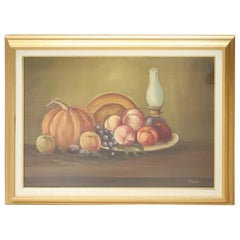 20th Century Italian Oil on Canvas Still Life Painting with Frame, Signed