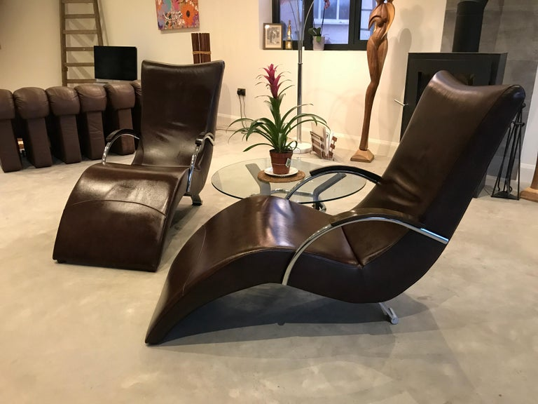 20th Century Vintage Retro Italian ox blood colored  Lounge Chairs  For Sale 2