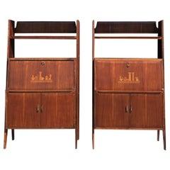 20th Century Italian Pair of Cabinet Writing Desks by Silvio Cavatorta