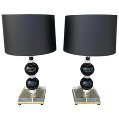 20th Century Italian Pair of Murano Glass Table Lamps by Nardo