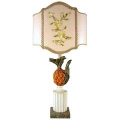 20th Century Italian Pineapple Lamp Base from Tuscany