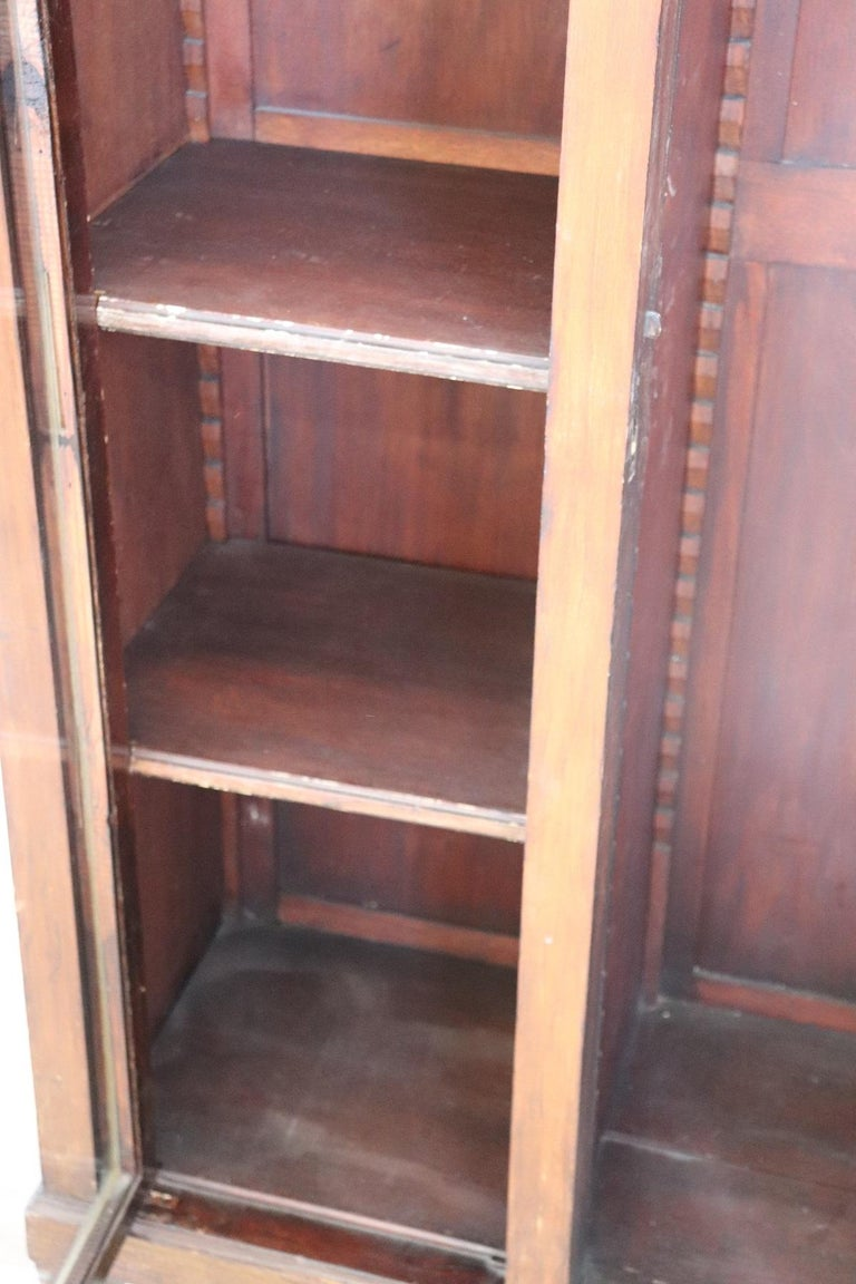 20th Century Italian Poplar Vitrine or Bookcase For Sale 1