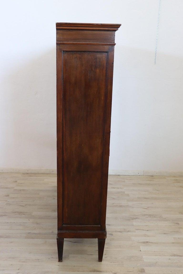 20th Century Italian Poplar Vitrine or Bookcase For Sale 5