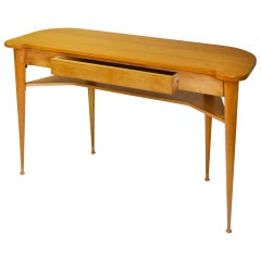 20th Century Italian Production Console Table in Wood with Drawer, 1950s