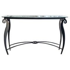 20th Century Italian Pucci De Rossi Glass Console Table