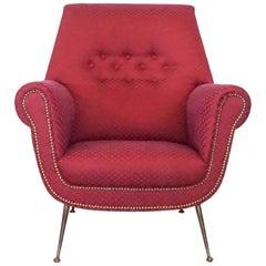 20th Century Italian Red Lounge Chair by Gigi Radici