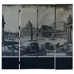 20th Century Italian Room Divider or Screen after Piranesi
