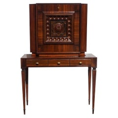 20th Century Italian Rosewood Cabinet, Cherrywood Secretaire by Paolo Buffa