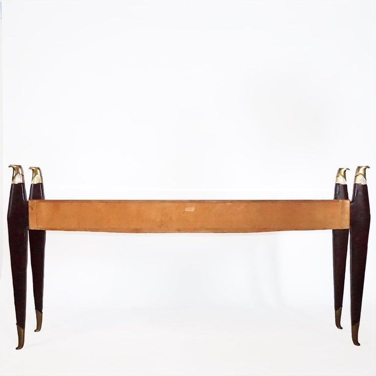 Mid-Century Modern 20th Century Italian Rosewood Console Table by Osvaldo Borsani For Sale