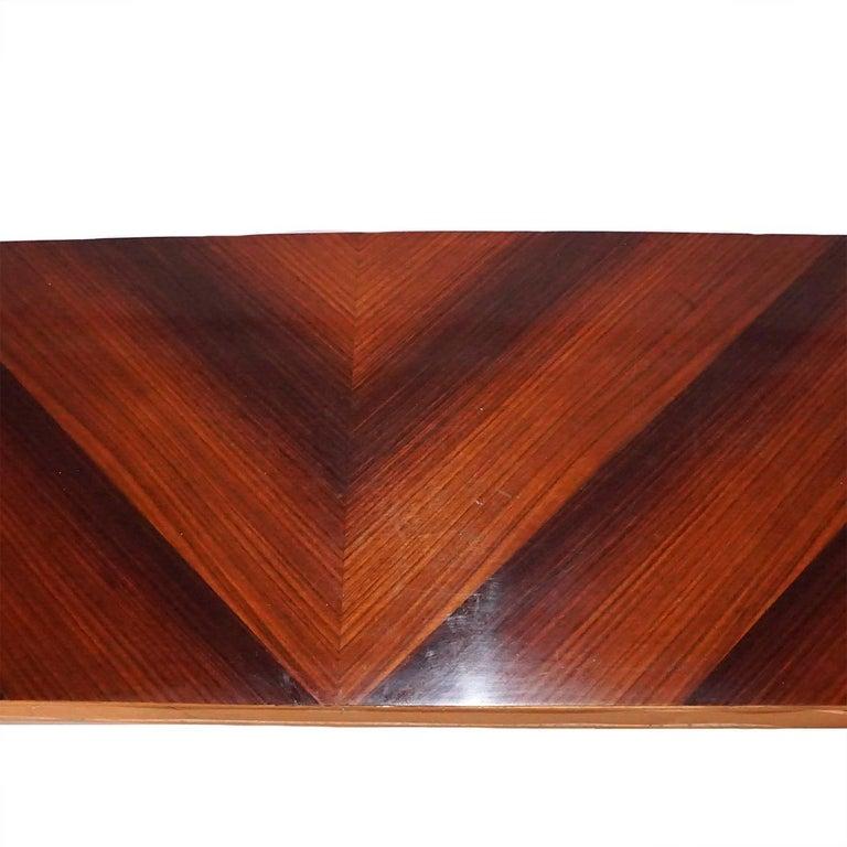 Glass 20th Century Italian Rosewood Console Table by Osvaldo Borsani For Sale