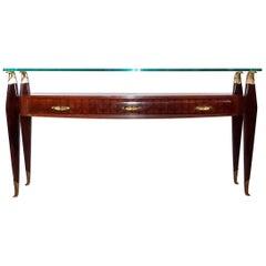 20th Century Italian Rosewood Console Table by Osvaldo Borsani