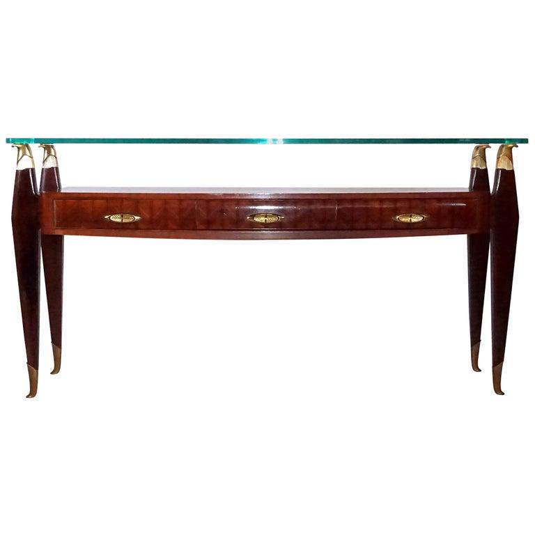 20th Century Italian Rosewood Console Table by Osvaldo Borsani For Sale