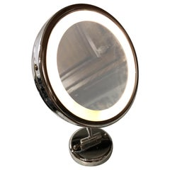 20th Century Italian Round Makeup Light with Mirror