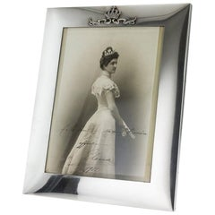 20th Century Italian Royal Silver Photo Frame, Musy, circa 1900