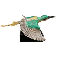 20th Century Italian Sculpture of a Hummingbird