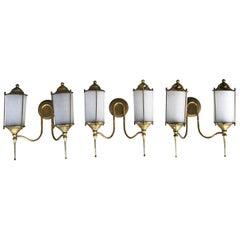 20th Century Italian Set of Three Double Light Appliqués