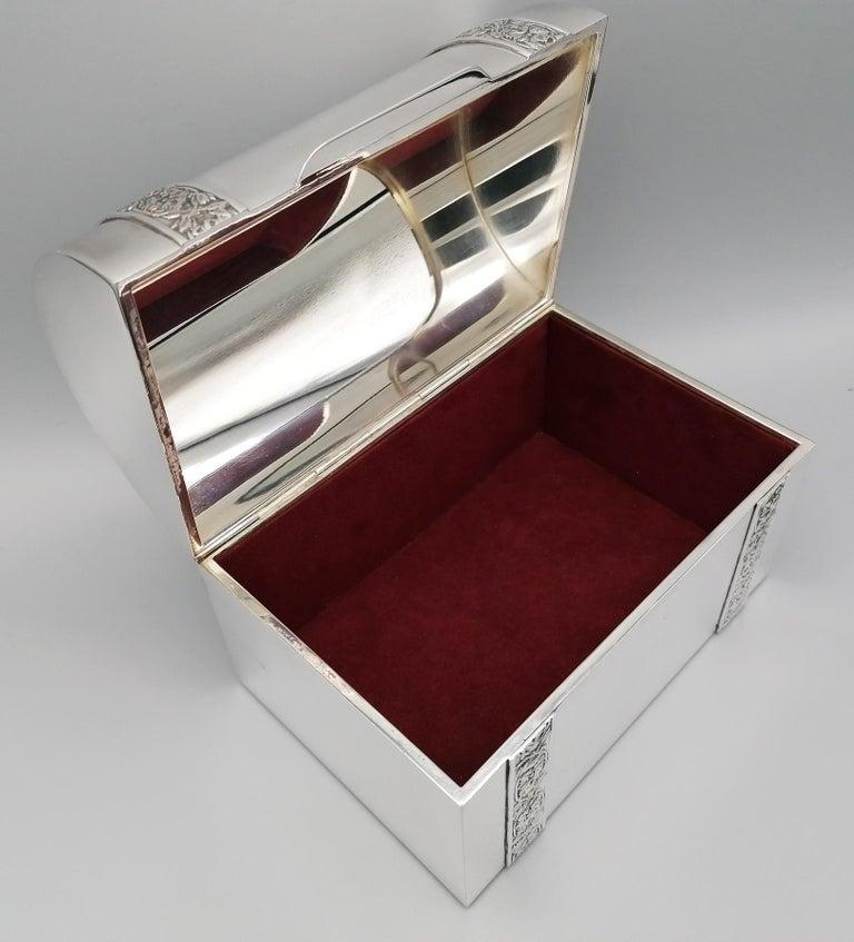 20th Century Italian Silver Jewelry box For Sale 4