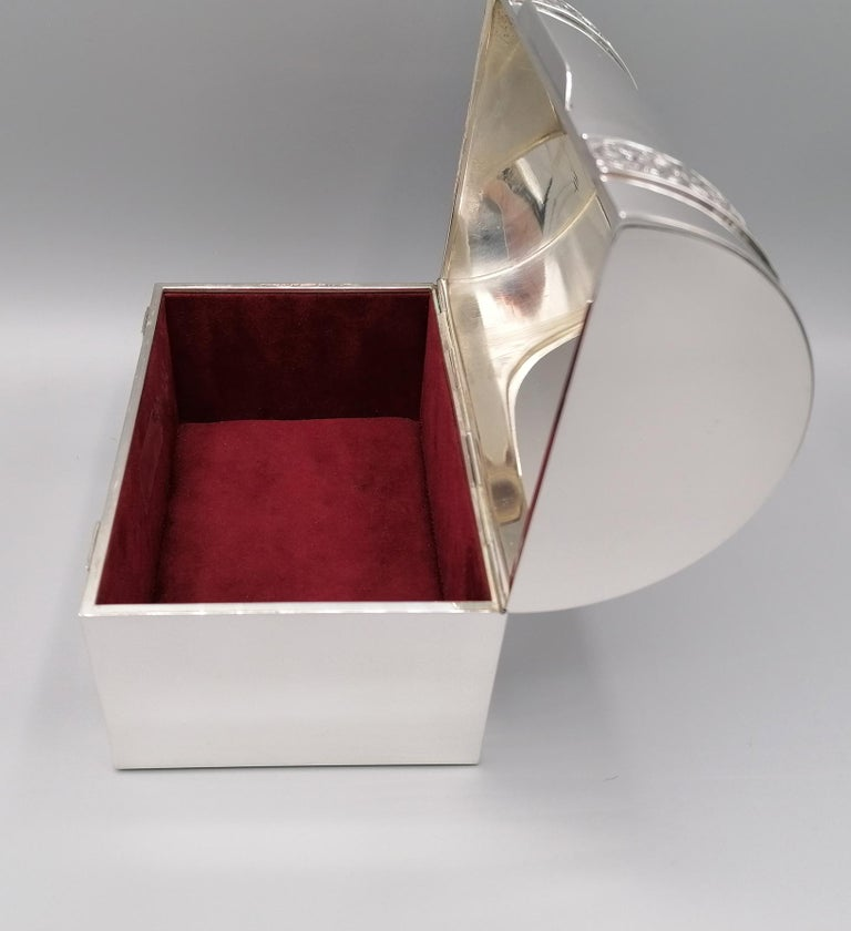 20th Century Italian Silver Jewelry box In Excellent Condition For Sale In VALENZA, IT